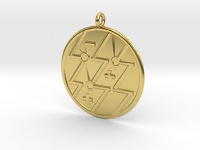 Physics Symbol in Polished Brass