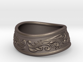 Paladin bracelet in Polished Bronzed-Silver Steel: Extra Small