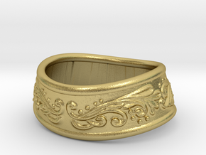 Paladin bracelet in Natural Brass: Extra Small