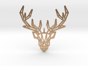 Deer Pendant in Natural Bronze