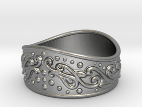 Knight bracelet in Natural Silver: Extra Small