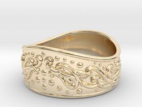 Knight bracelet in 14k Gold Plated Brass: Large
