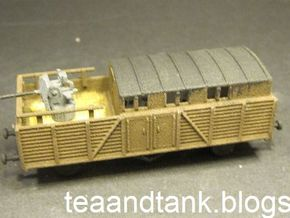 1/144 Reichsbahn Flakwagen  in White Natural Versatile Plastic