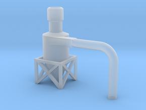 Dachzyklonfilter V3 flach 1:120 in Smooth Fine Detail Plastic