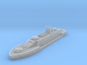 Steampunk Ironclad Battleship in Smooth Fine Detail Plastic