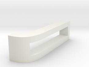 CHOKER SLIDE LETTER J 1⅛, 1¼, 1½, 1¾, 2 inch sizes in White Natural Versatile Plastic: Extra Small