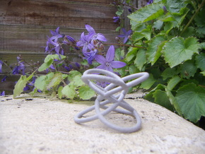 Trefoil-mod1 in Polished Metallic Plastic