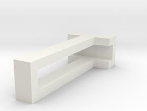 CHOKER SLIDE LETTER T 1⅛, 1¼, 1½, 1¾, 2 inch sizes in White Natural Versatile Plastic: Extra Small