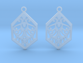 Aaricia earrings in Smooth Fine Detail Plastic: Small