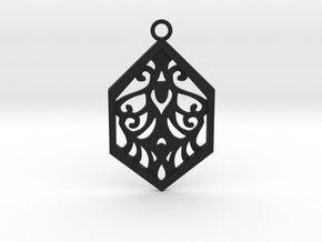 Aaricia pendant in Black Natural Versatile Plastic: Medium