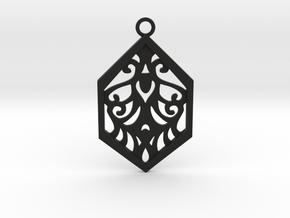Aaricia pendant in Black Natural Versatile Plastic: Medium
