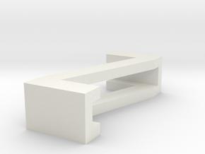 CHOKER SLIDE LETTER Z 1⅛, 1¼, 1½, 1¾, 2 inch sizes in White Natural Versatile Plastic: Extra Small
