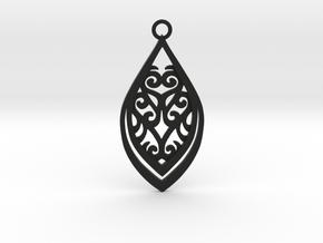 Nessa pendant in Black Natural Versatile Plastic: Medium
