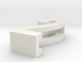 CHOKER SLIDE LETTER 2 1⅛, 1¼, 1½, 1¾, 2 inch sizes in White Natural Versatile Plastic: Extra Small