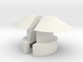 1/6 DKM UBoot VIICNavigation light SET in White Natural Versatile Plastic
