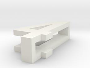 CHOKER SLIDE LETTER 4 1⅛, 1¼, 1½, 1¾, 2 inch sizes in White Natural Versatile Plastic: Extra Small