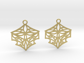 Adalina earrings in Natural Brass: Small
