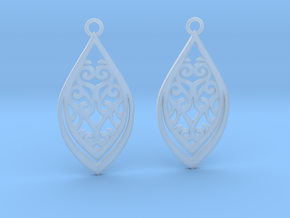 Nessa earrings in Smooth Fine Detail Plastic: Small