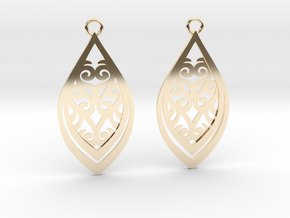 Nessa earrings in 14K Yellow Gold: Small