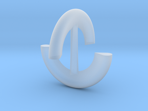 Sphericon stylized 46mm in Smooth Fine Detail Plastic