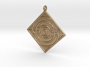 Philosophy Symbol in Polished Gold Steel