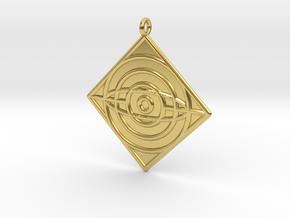 Philosophy Symbol in Polished Brass