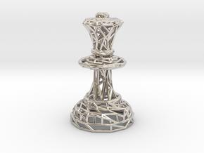 Queen  in Rhodium Plated Brass