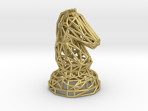 Knight in Natural Brass