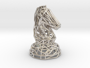 Knight in Rhodium Plated Brass