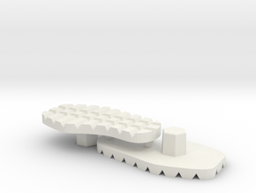 Tread Sole Set for ModiBot ExoSkin in White Natural Versatile Plastic