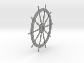 Ship's Wheel 10 spoke 1:24 scale in Gray PA12