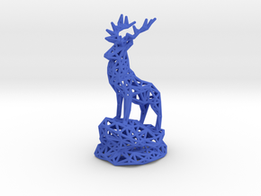 Deer(Adult Male) in Blue Processed Versatile Plastic