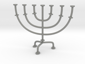 Menorah chandelier 1:12 scale model V2 in Gray PA12