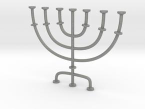 Menorah candlestick 1:12 scale model in Gray PA12