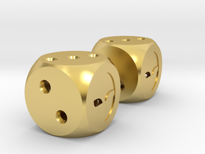 Lucky Dice in Polished Brass