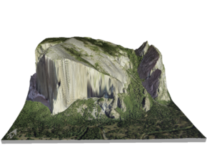 "El Capitan Map: 8.5""x11"" in Glossy Full Color Sandstone"