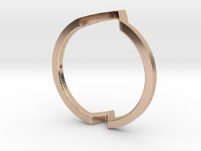 Ring - Wondr in 14k Rose Gold Plated Brass: 6 / 51.5