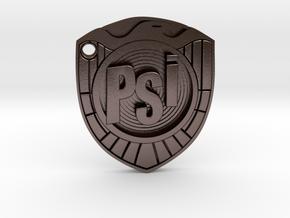 psi judge badge in Polished Bronze Steel
