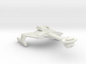 3788 Scale Romulan KCR Heavy Battlecruiser, Smooth in White Natural Versatile Plastic