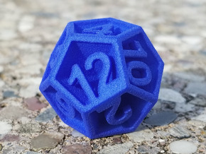 D12 - Plunged Sides in Blue Processed Versatile Plastic