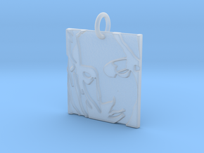 Mother Mary Abstract Pendant in Smooth Fine Detail Plastic: Extra Small