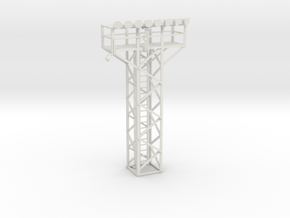 Light Tower Top With Single Light Assembly 1-87 HO in White Natural Versatile Plastic