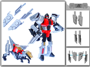 PotP Slash Knives in White Natural Versatile Plastic