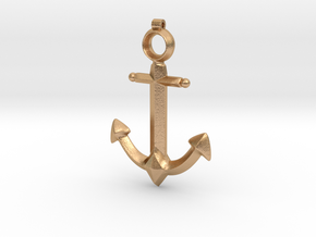 Anchor Pendant - Jaina - World of Warcraft in Natural Bronze