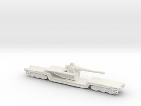 17  cm kanone eisenbahnlafette 1/160 artillery  in White Natural Versatile Plastic