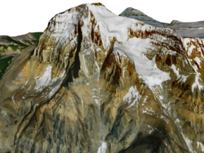 "Mount Robson Map: 6"" in Matte Full Color Sandstone"