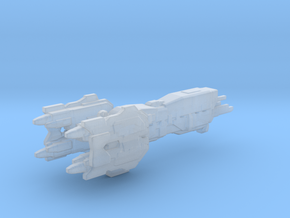 UNSC Light Assault Cruiser 3cm version in Smooth Fine Detail Plastic