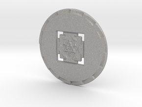 Gayatri Yantra Coin - One Light One Love One Truth in Aluminum: Extra Small