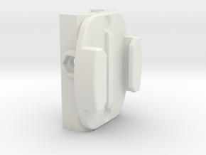 Picatinny Go Pro Quick Release Flat Mount in White Natural Versatile Plastic