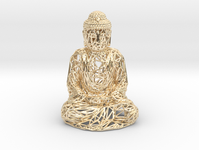 Buddha in 14k Gold Plated Brass